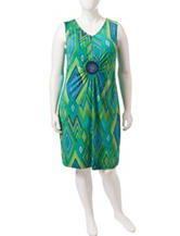 Lennie Plus-size Multicolor Medallion Print Dress