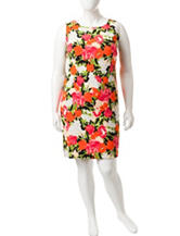 Ronni Nicole Plus-size Floral Print Sheath Dress