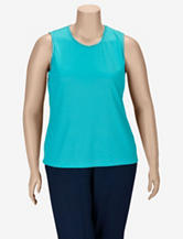 Alia Microfine Ribbed Tank Top – Plus-sizes