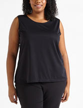 Notations Solid Color Knit Tank Top – Plus-sizes