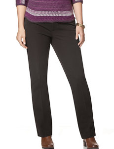 Chaps Plus-size Solid Color Bi-Stretch Twill Straight Pants
