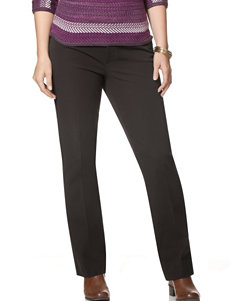 Chaps Plus-size Solid Color Bi-Stretch Twill Straight Pants - 29