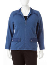 Alfred Dunner Plus-size French Terry Jacket