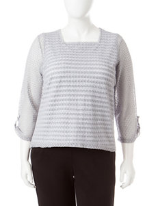 Alfred Dunner Silver Shirts & Blouses