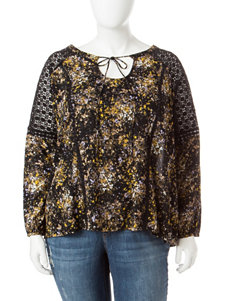Jessica Simpson Black Multi Shirts & Blouses