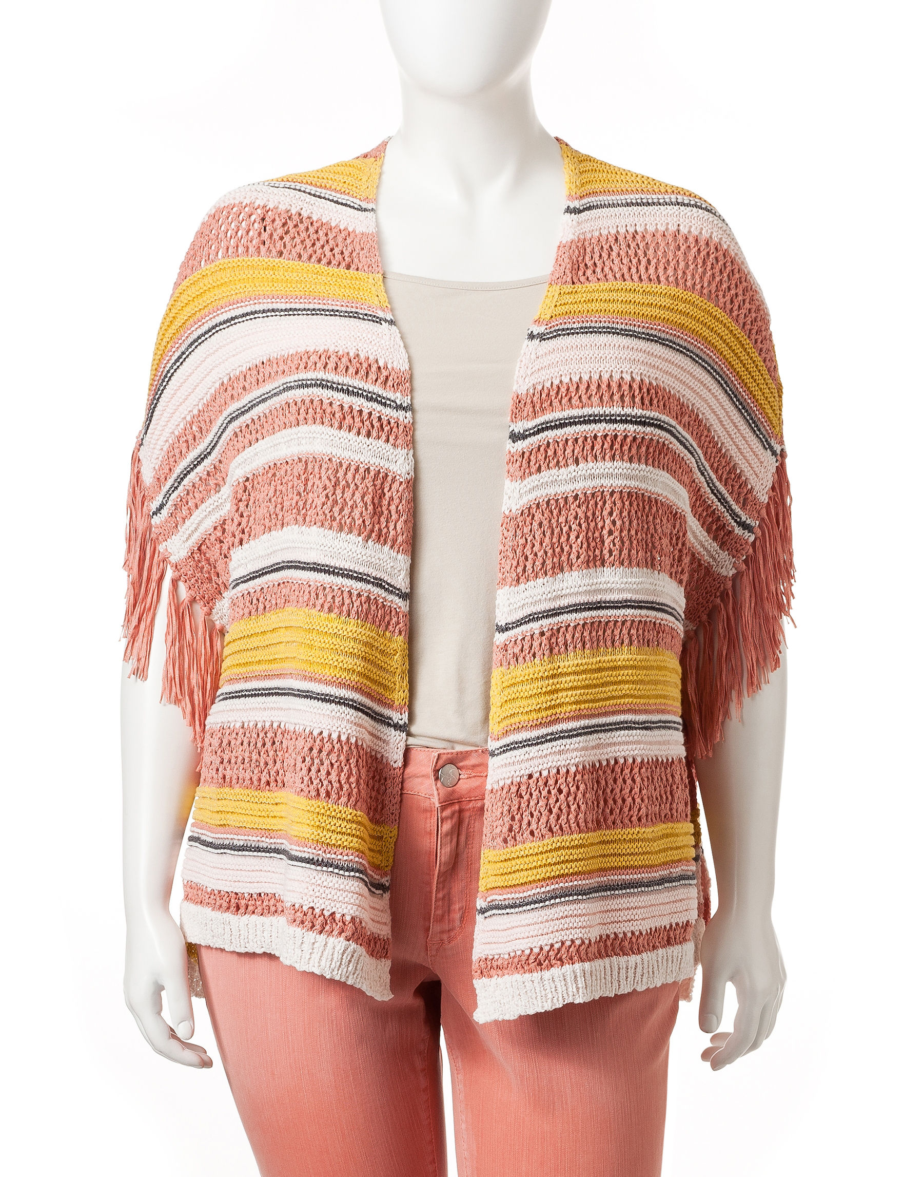 Jessica Simpson Pink Multi Cardigans Sweaters