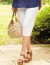 Zac & Rachel Plus-size Solid Color Slim Fit Cropped Pants
