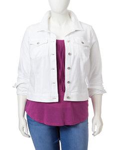 Jessica Simpson Plus-size Pixie Knit Denim Jacket