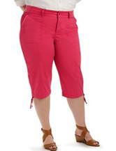 Lee® Plus-size Solid Color Pink Harper Skimmer Shorts