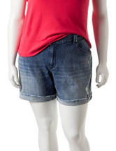 Jessica Simpson Plus-size Monroe Denim Boyfriend Shorts