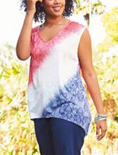 Signature Studio Plus-size Color Block Knit Top