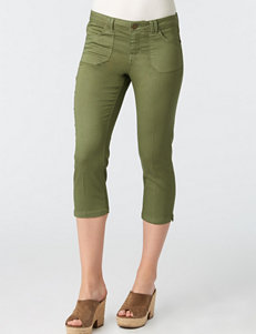 Democracy Plus-size Stretch Twill Utility Cropped Pants