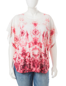 Signature Studio Plus-size Floral Print Embellished Top