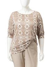 Ruby Rd. Plus-size Batik Print Knit Top