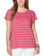 Chaps Plus-size Striped Print Top