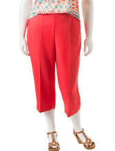 Alfred Dunner Plus-size Pull-On Capris