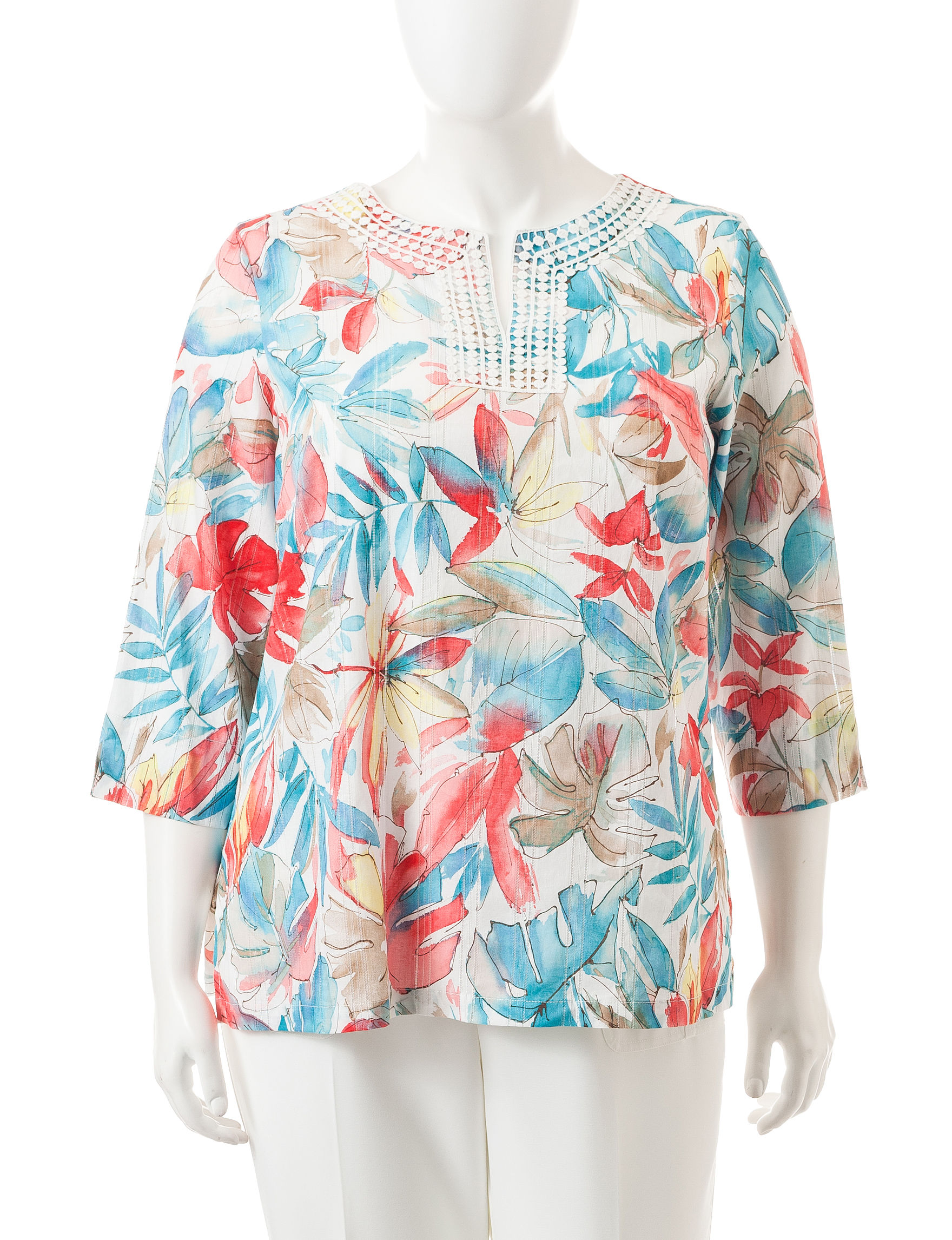 Alfred Dunner Pink Shirts & Blouses