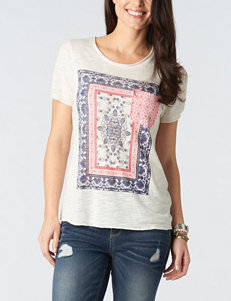 Democracy Plus-size Scarf Screen Print Top