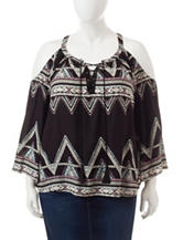 Jessica Simpson Plus-size Aztec Print Woven Top