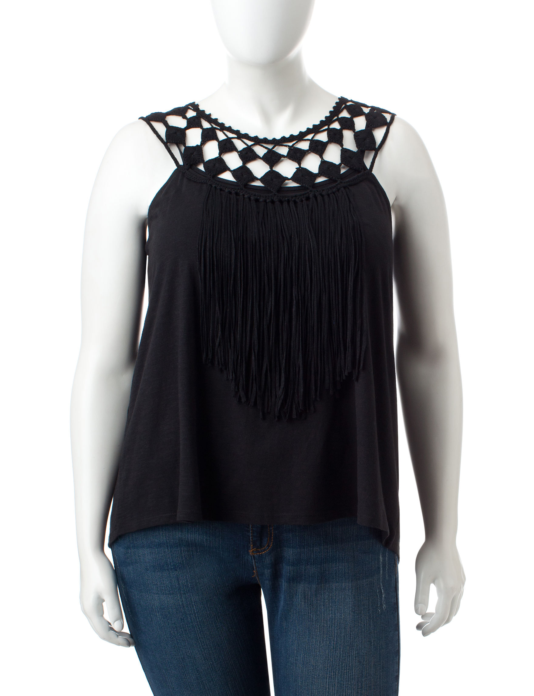 Jessica Simpson Black Tees & Tanks