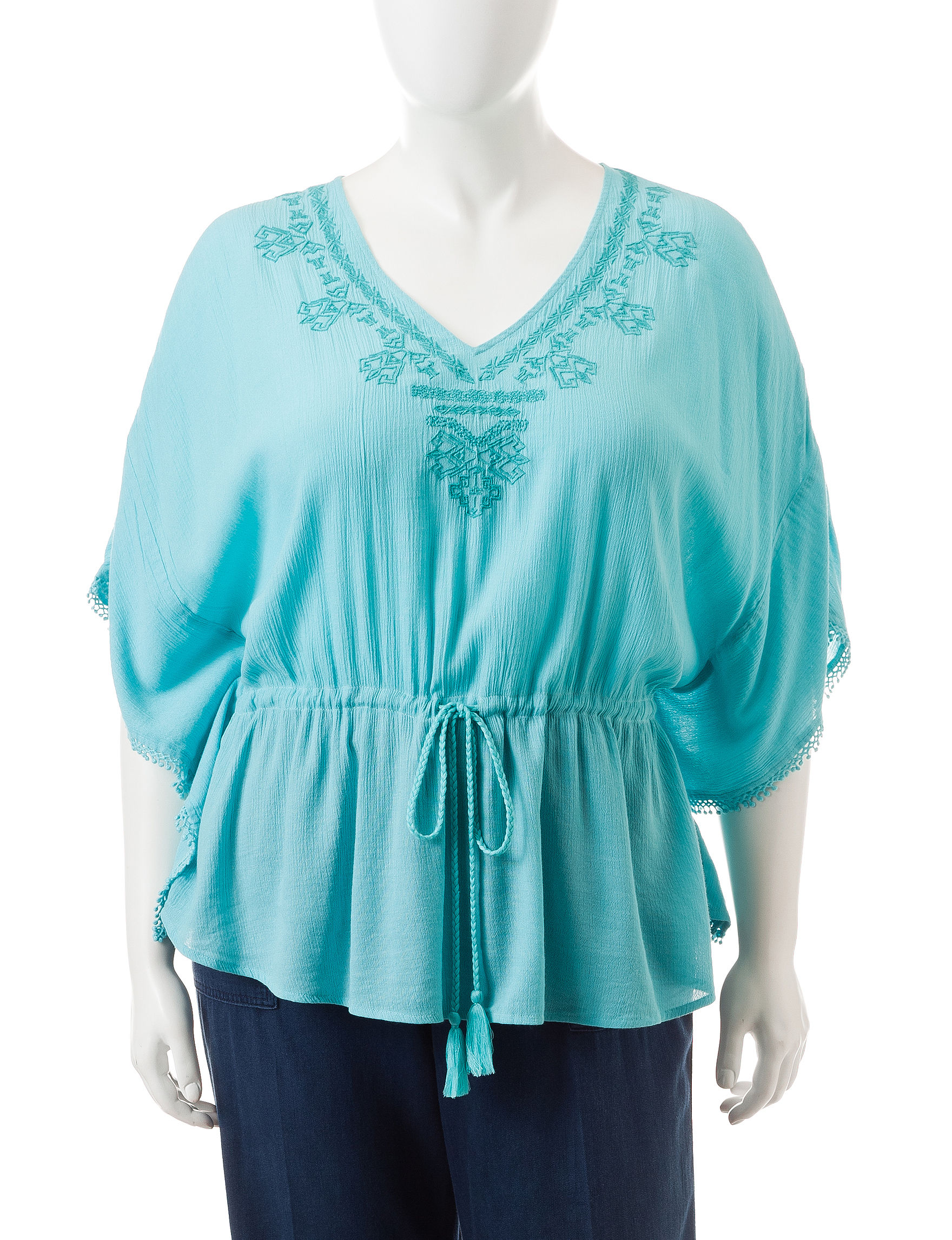 Jessica Simpson Dark Blue Shirts & Blouses