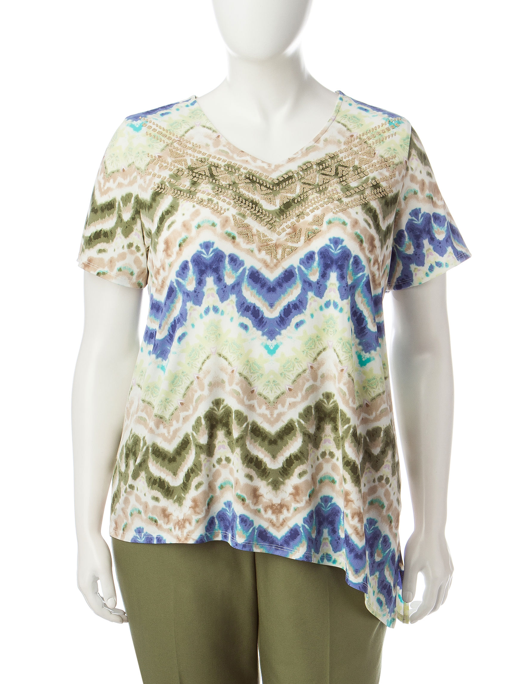 Alfred Dunner Green Tees & Tanks