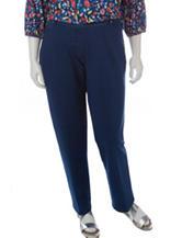 Cathy Daniels Plus-size Dark Wash Denim Stretch Pants