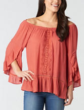 Democracy Plus-size Off-the-Shoulder Ruffle Top