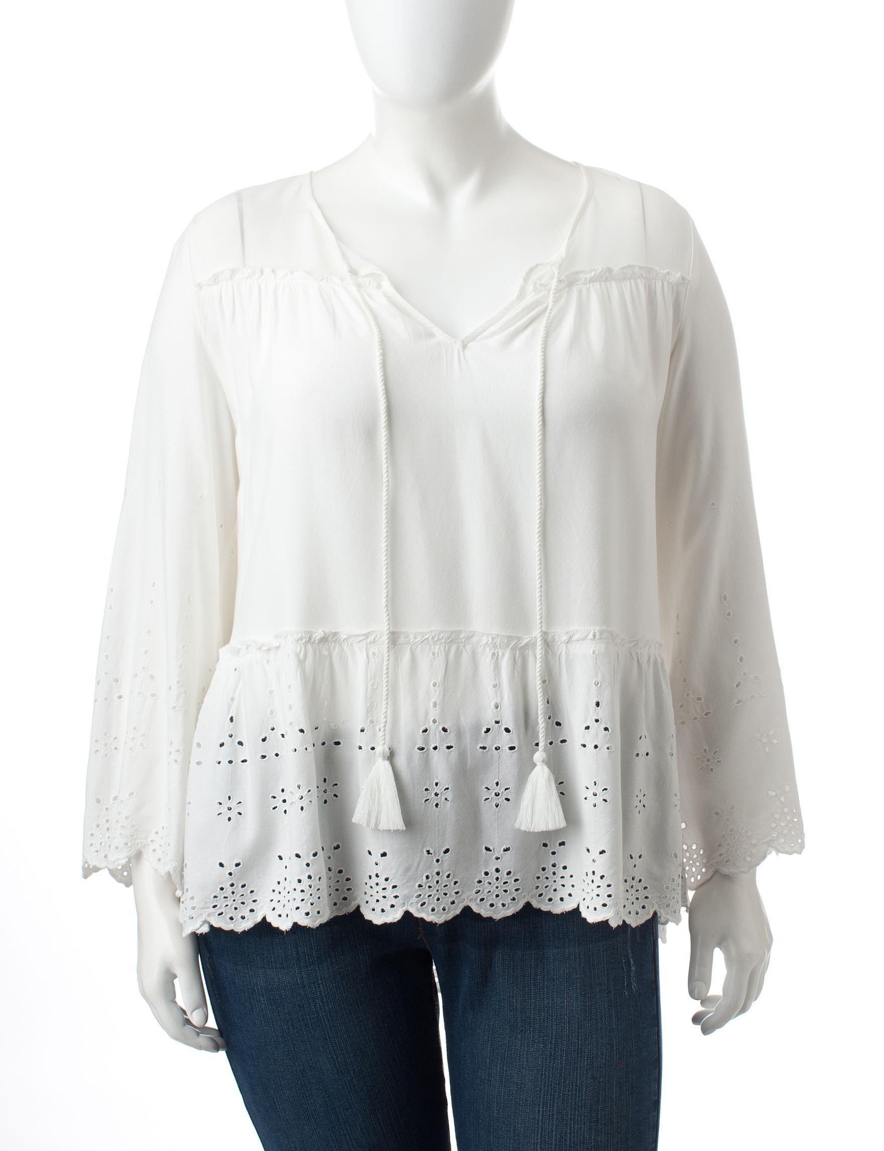 Jessica Simpson White Shirts & Blouses