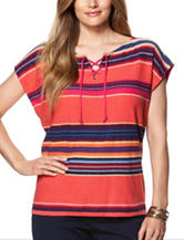Chaps Plus-size Fiesta Striped Top