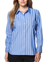 Chaps Plus-size Striped Print Woven Top