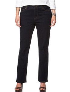 Chaps Plus-size Dark Rinse Straight Leg Jeans