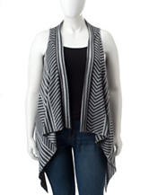 Energé Plus-size Striped Print Sweater Vest