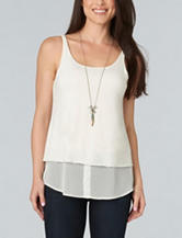 Democracy Plus-size Double Layer Knit Top