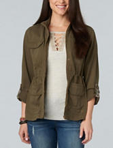 Democracy Plus-size Olive Utility Jacket
