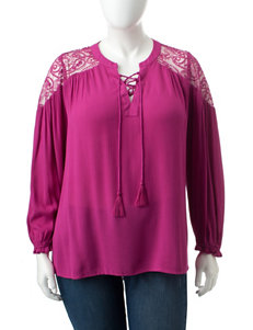 Valerie Stevens Purple Shirts & Blouses
