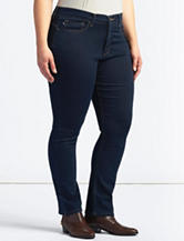 Lee® Plus-size Frenchie Dark Wash Straight Leg Jeans