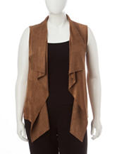 Ruby Rd. Plus-size Faux Suede Vest