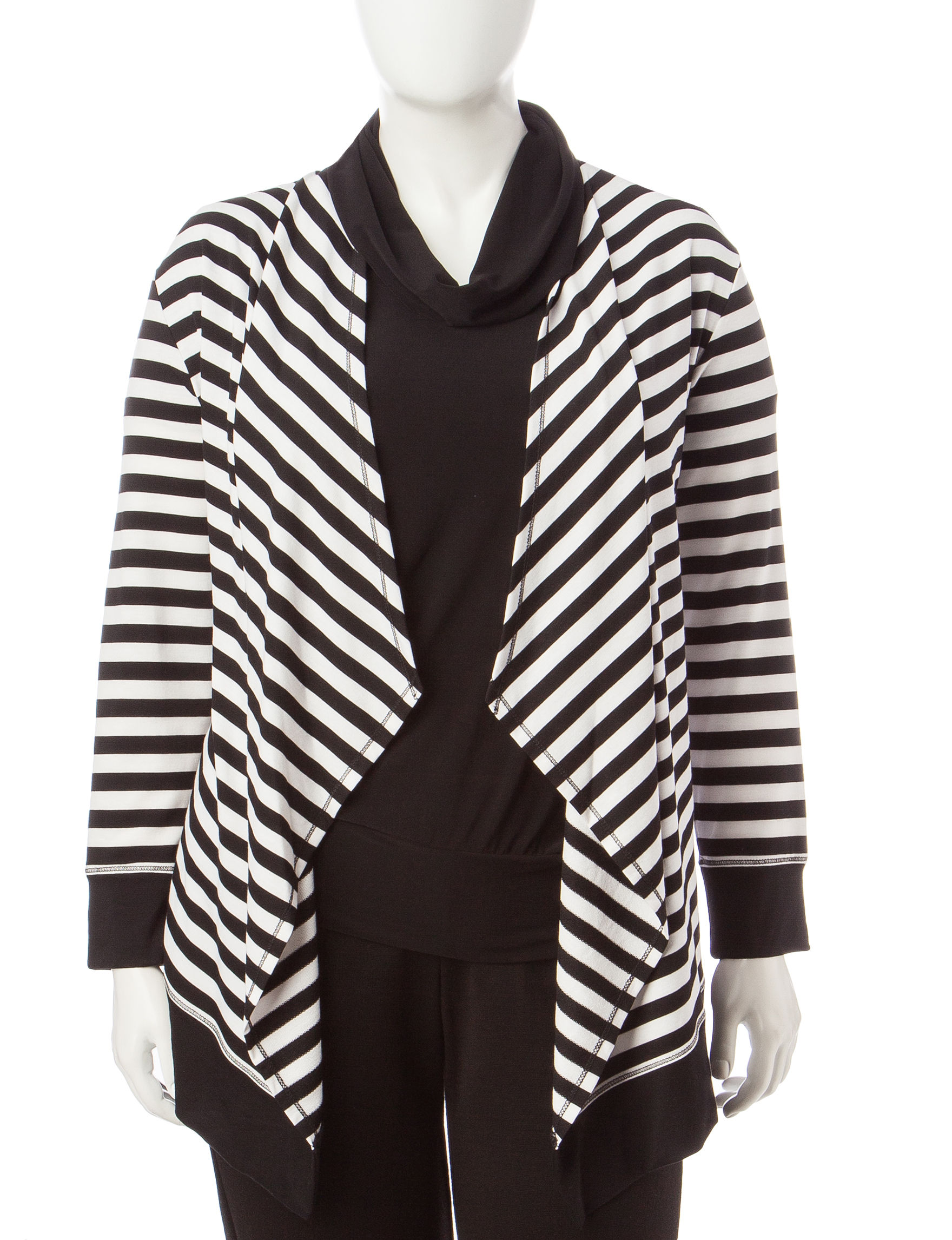Ruby Road Black / White Cardigans Sweaters