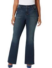 Vintage America Blues Plus-size Boho Bootcut Jeans