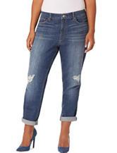 Vintage America Blues Plus-size Gratia Slim Boyfriend Jeans