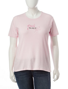 MCcc Sportswear Plus-size Pink The Color Of Hope Top
