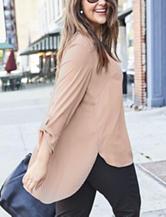 Valerie Stevens Plus-size Contrast Pleat Top