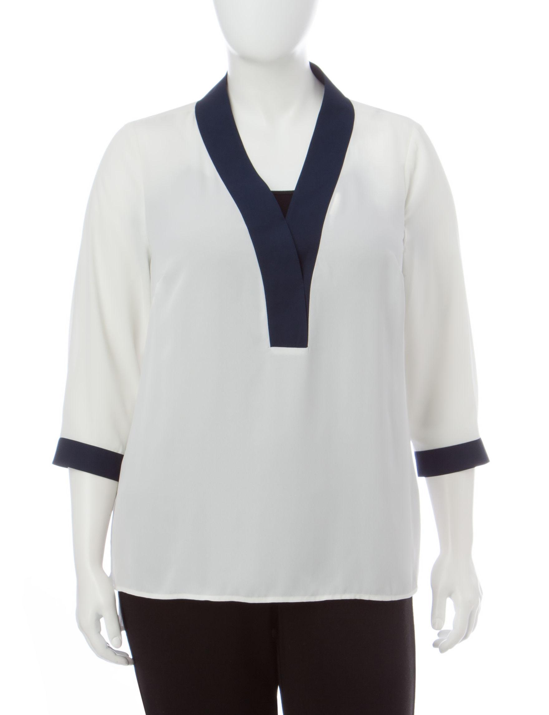 Valerie Stevens Cream Shirts & Blouses
