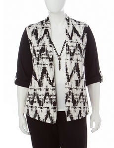Alfred Dunner Plus-size Chevron Print Layered-Look Top