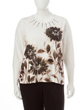 Alfred Dunner Plus-size Floral Print Top