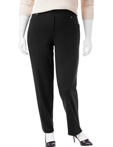 Rebecca Malone Plus-size Pull-On Ponte Knit Pants