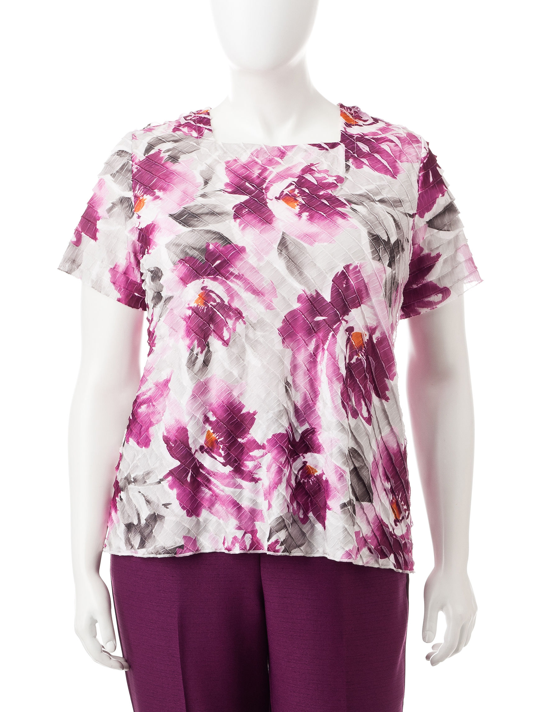 Alfred Dunner Pink Tees & Tanks