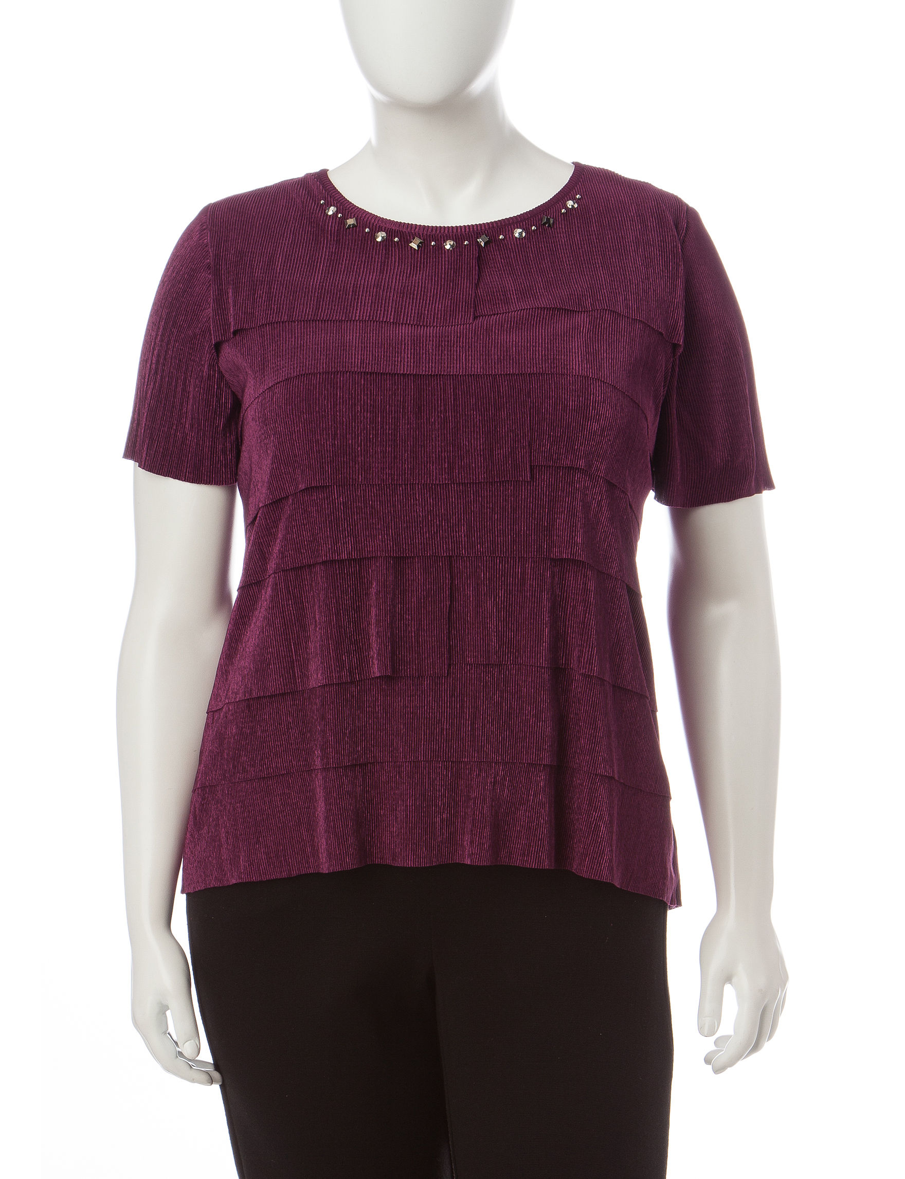 Alfred Dunner Red Tees & Tanks