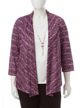 Alfred Dunner Plus-size Space Dye Layered-Look Top